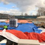 Stormschade aan het dak en zonnepanelen