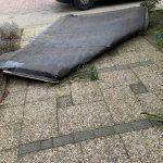 Eerste storm 2021 veroorzaakt veel schade o.a. aan daken
